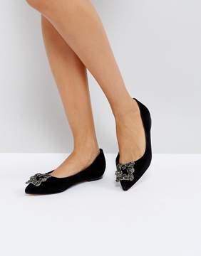 Dune London Briela Embellished Flat Shoes