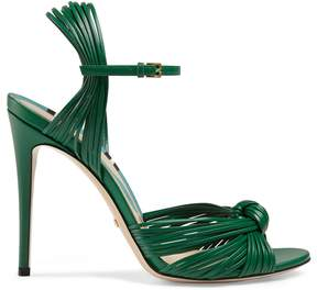 Gucci Leather knot sandal
