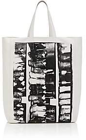 Calvin Klein Women's Graphic Leather Tote Bag - White