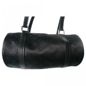 Louis Vuitton Papillon silk handbag - BLACK - STYLE