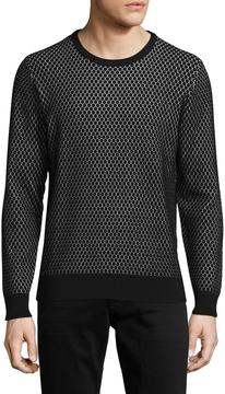 J. Lindeberg Men's Ernesto Snake Jaquard Sweater
