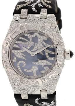 Audemars Piguet Royal Oak Lady 7607BC.ZZ.D001SU.01 Oak Leaves Collection 18K White Gold 33mm Watch