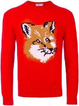 MAISON KITSUNÉ fox motif jumper