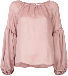 CITYSHOP sheer gathered blouse