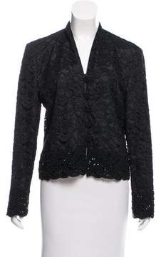 Christian Dior Embellished-Trim Lace Jacket