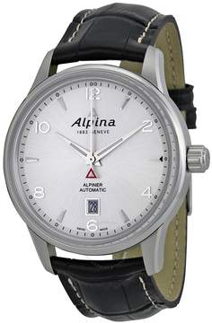 Alpina Alpiner Automatic Silver Dial Black Leather Men's Watch