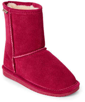 BearPaw Kids Girls) Pom Berry Emma Short Suede Boots
