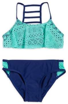 Hula Star Girl's Two-Piece Free Spirit Crochet Bikini