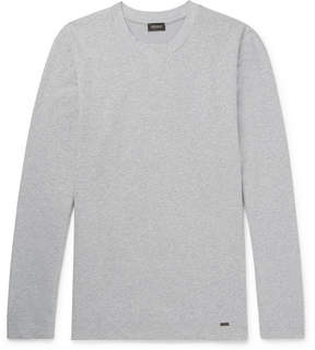 Hanro Mélange Stretch-Cotton Jersey Sweatshirt