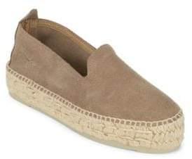 Manebi Hampston Leather Slip-On Espadrilles