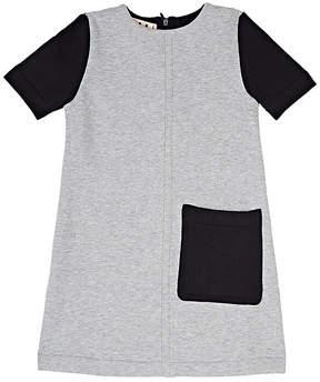Marni Kids' Colorblocked Cotton Fleece Shift Dress