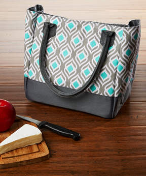 Fit & Fresh Gray Aqua Leaf Vienna Insulated Lunch Bag & Ice Pack