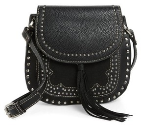 Shiraleah Skylar Faux Leather Saddle Bag - Black