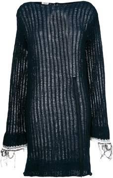 Aviu open knit sweater dress