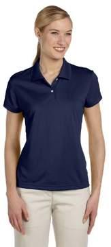 adidas A122 Women's Plain ClimaLite Pique Polo Polo Golf Shirt
