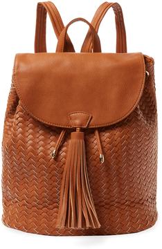 Deux Lux Women's Bleecker Tassel Woven Vegan Leather Backpack
