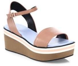 Robert Clergerie Piel Leather Platform Sandals
