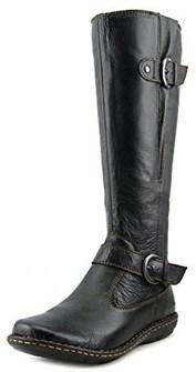 b.ø.c. Womren's Faye Leather Boots, Black, Size 7.0.
