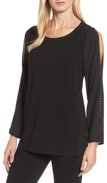 Chaus Women's Studded Split Sleeve Top