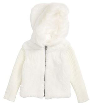 Splendid Infant Girl's Faux Fur Hoodie