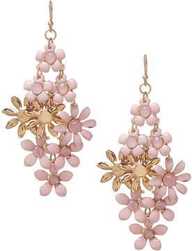 Carole Pink Flower Drop Earrings