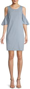 ABS by Allen Schwartz Women's Elbow-Sleeve Cold-Shoulder Dress