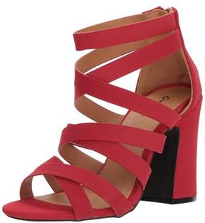 Qupid Women's Chunky Heeled Sandal.
