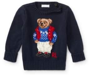 Polo Ralph Lauren Bear Cotton Sweater Hunter Navy 9M