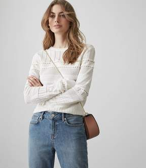 Reiss Astrid Lace-Detail Knitted Jumper