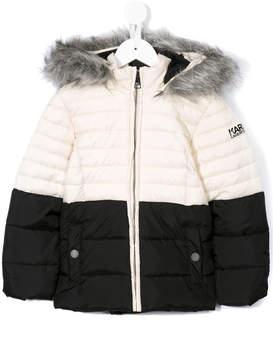 Karl Lagerfeld faux fur padded jacket