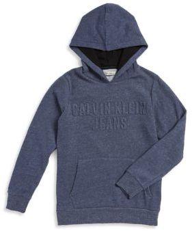 Calvin Klein Jeans Boy's Embossed Logo Hoodie
