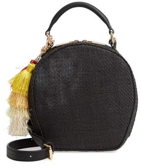 Deux Lux Grenada Woven Straw Circle Crossbody Bag