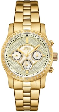 JBW Vixen Crystal Pave Dial Gold-Plated Stainless Steel Ladies Watch