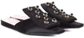 Marni Embellished satin slippers
