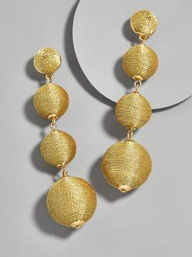 BaubleBar Criselda Ball Drop Earrings-Metallic Gold