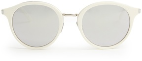 SAINT LAURENT Mirrored round-frame sunglasses