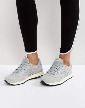 Saucony Knit Sneakers In Gray