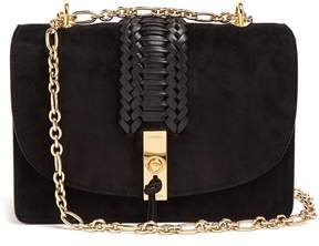 ALTUZARRA Ghianda braided-leather suede shoulder bag