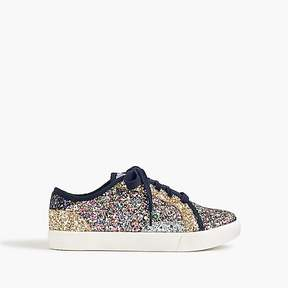 J.Crew Kids' glitter lace-up sneakers