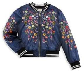 Hannah Banana Girl's Floral Embroidered Jacket