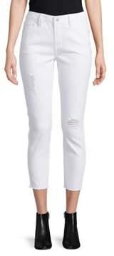 C&C California Frayed Hem Cropped Jeans