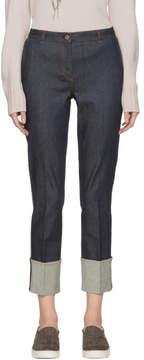 Bottega Veneta Indigo Cropped Cuffs Jeans