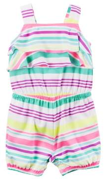 Carter's Baby Girls 1 Pc Striped Romper