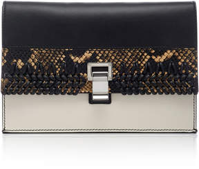 Proenza Schouler Small Lunch Bag Leather And Python Clutch