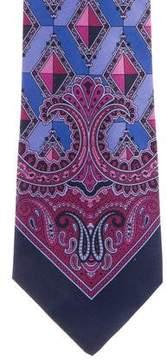 Gianni Versace Geometric Silk Tie