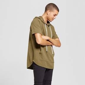 Jackson Men's Short Sleeve Curved Hem Hoodie Sweatshirt Olive