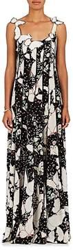 Valentino Women's Butterfly-Appliquéd Silk Gown
