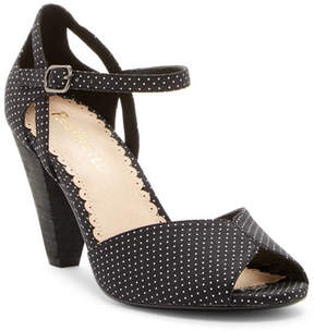 Restricted Dancing Dots Block Heel Sandal