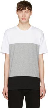 Rag & Bone White and Grey Precision T-Shirt