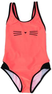 Karl Lagerfeld Choupette print swimsuit